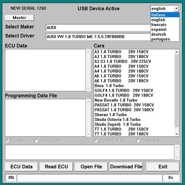 Galletto 1260 ECU Chip Tuning Software Free Download and Install