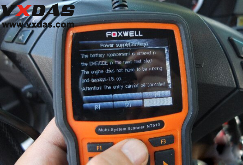 BMW Battery Registration Tool, How to Use Foxwell NT510 Scanner
