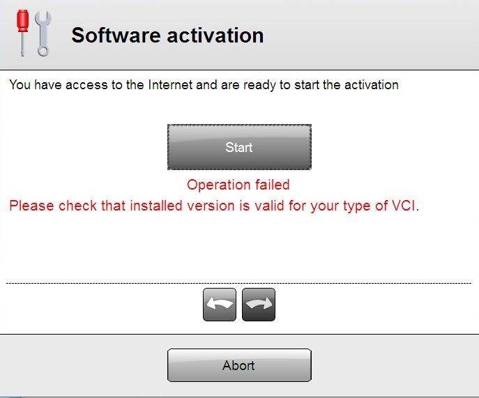 DS150 Software Activation Error