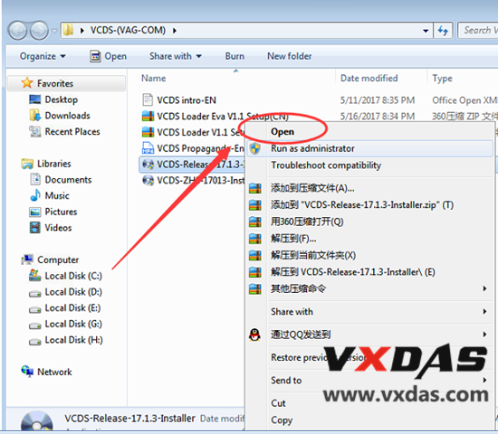how to install original plan vcds interface vcds software v18.9.1-2