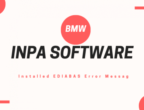 BMW INPA Software Installed EDIABAS Error Messag