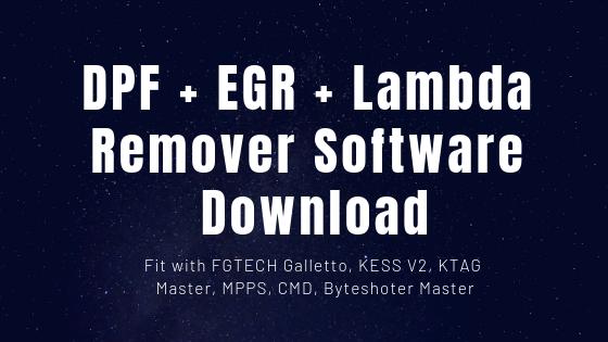 DPF Remover EGR Lambda Remover Software Free Download