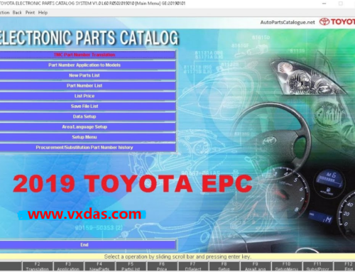 Toyota EPC 2019.3 Toyota Parts Catalog All Regions Download Link