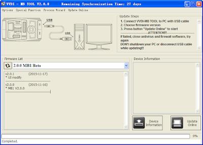 VVDI MB BGA Tool Software & Firmware Update_VXDAS 1