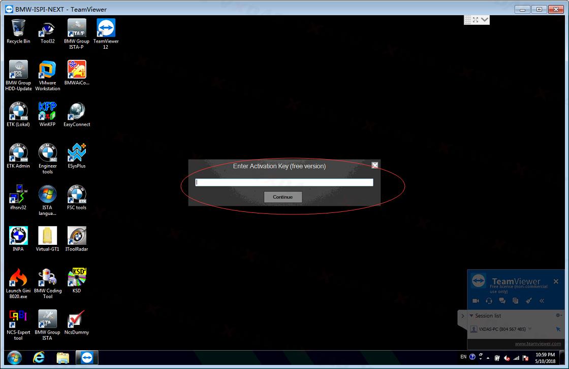 How to Solve BMW ISTA-P Need Password VXDAS 1