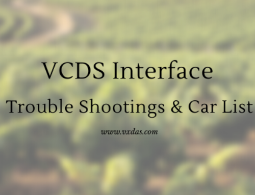 VCDS Interface Trouble Shooting & Support Vehicle List