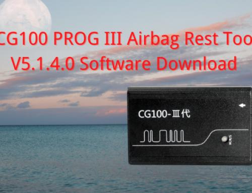 CG100 Prog III V5.1.4.0 Software Free Download