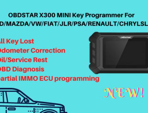 OBDSTAR X300 MINI Key Programmer For Ford/Mazda/Fiat/GM/JLR/PSA/VW
